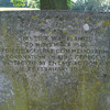 Stone on Church Green recording damage by blast bombs to a tree planted to commemorate the Coronatio