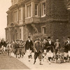 Lord Marshall leading the hunt from Shabden Park house, circa 1930