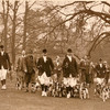Lord Marshall's hunt in the grounds of Shabden Park, circa 1930