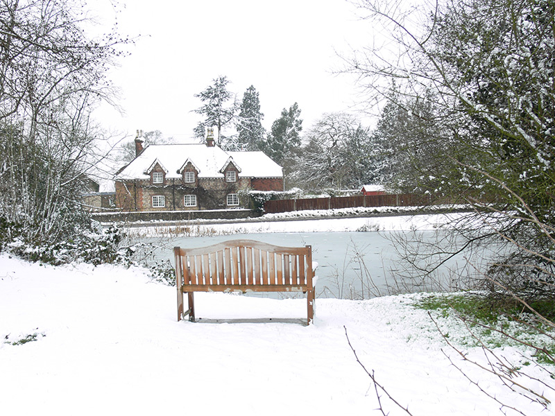 Elmore pond, winter 2007