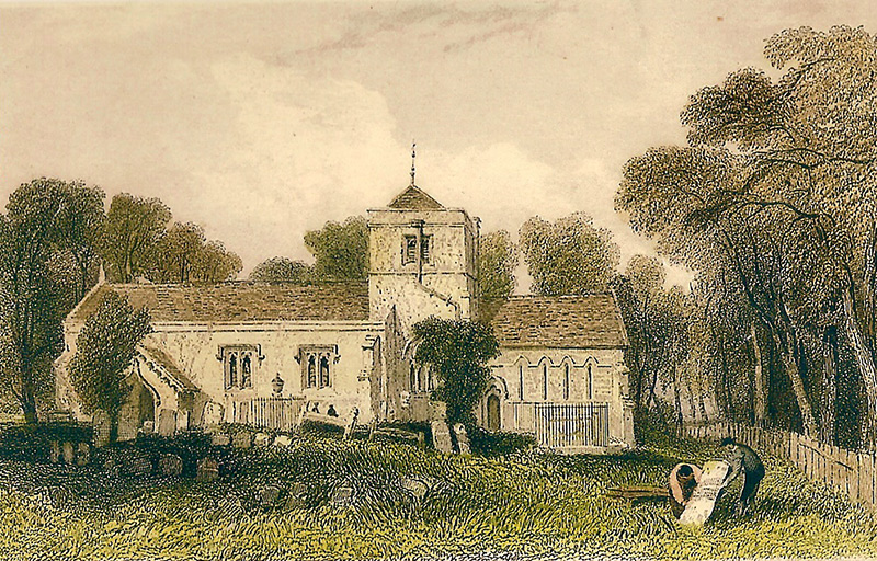 St Margaret's Church, circa 1820