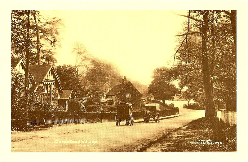 High road near Ruffetts End, circa 1910