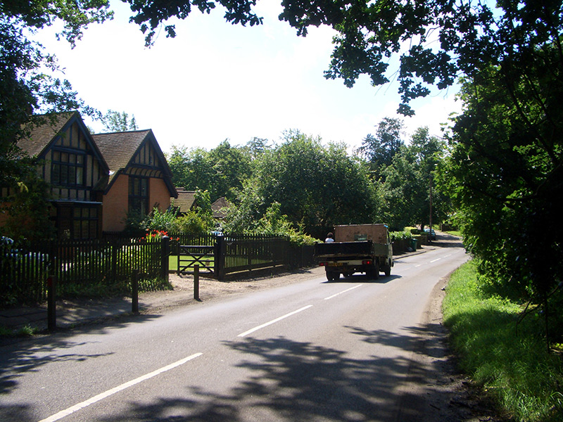 High road near Ruffetts End, 2007