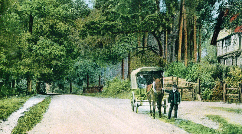 High road near Ruffetts End, Circa 1900