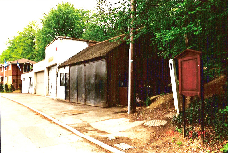 Vehicle workshops near Chipstead railway station, Hazel Way, circa 1980