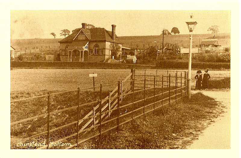 Chipstead railway station from Station Approach, circa 1905