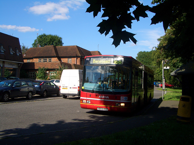 Bus stop outside the Midday Sun public house for the 166 service